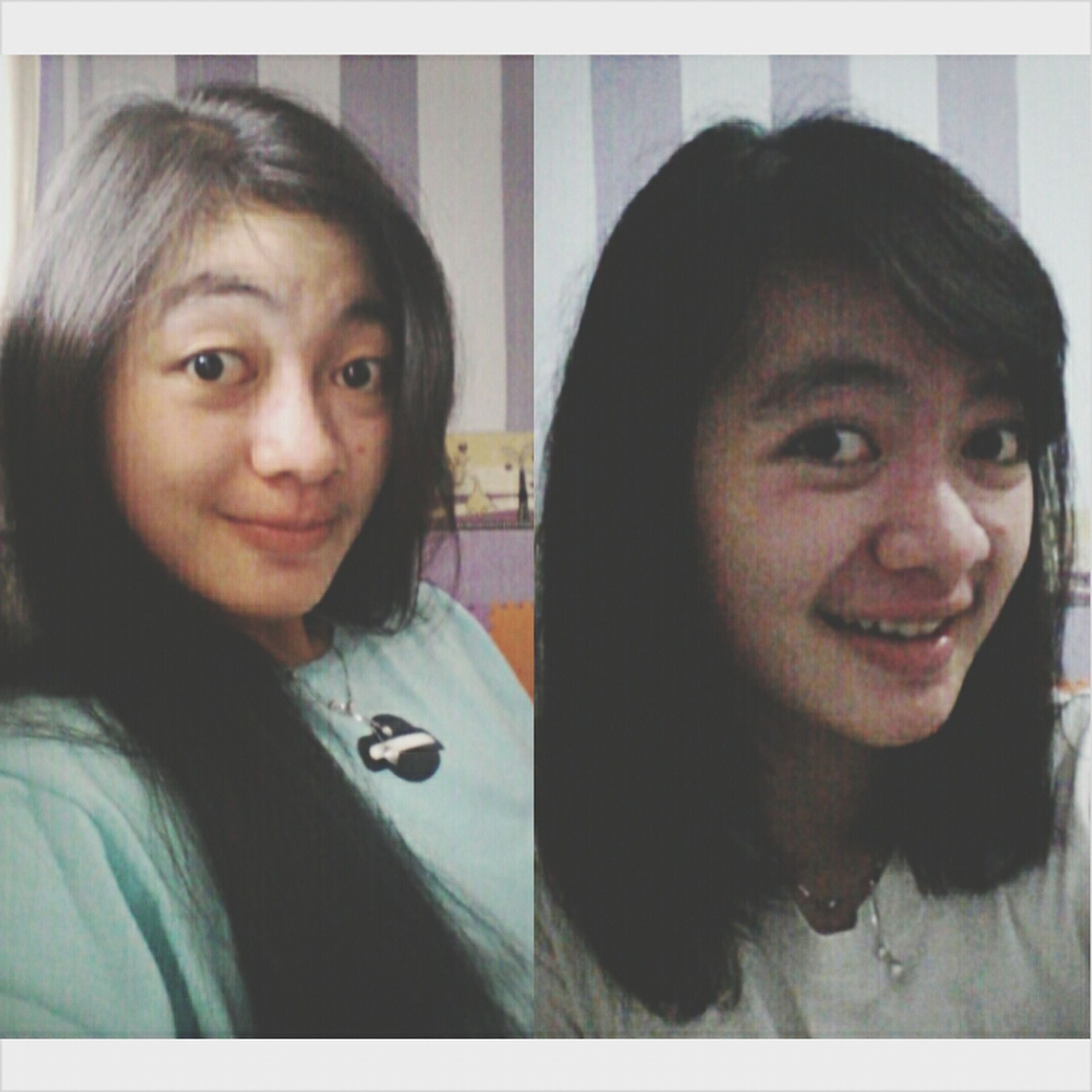 before and after  Girl INDONESIA Bandung New Haircut