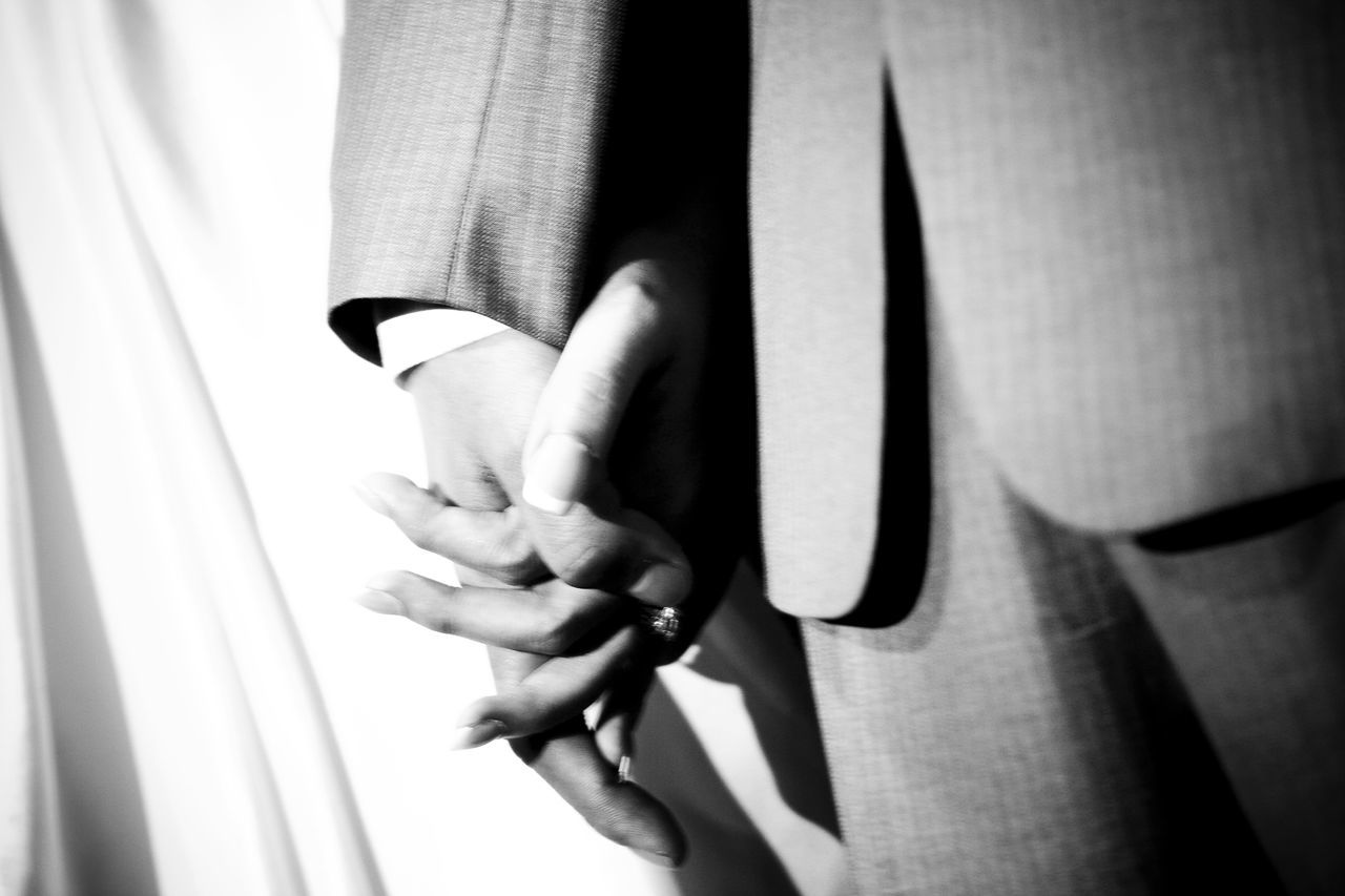 Black & White Blur Bride Grainy Images Groom Hands Holding Life Love Move Part Of Wedding