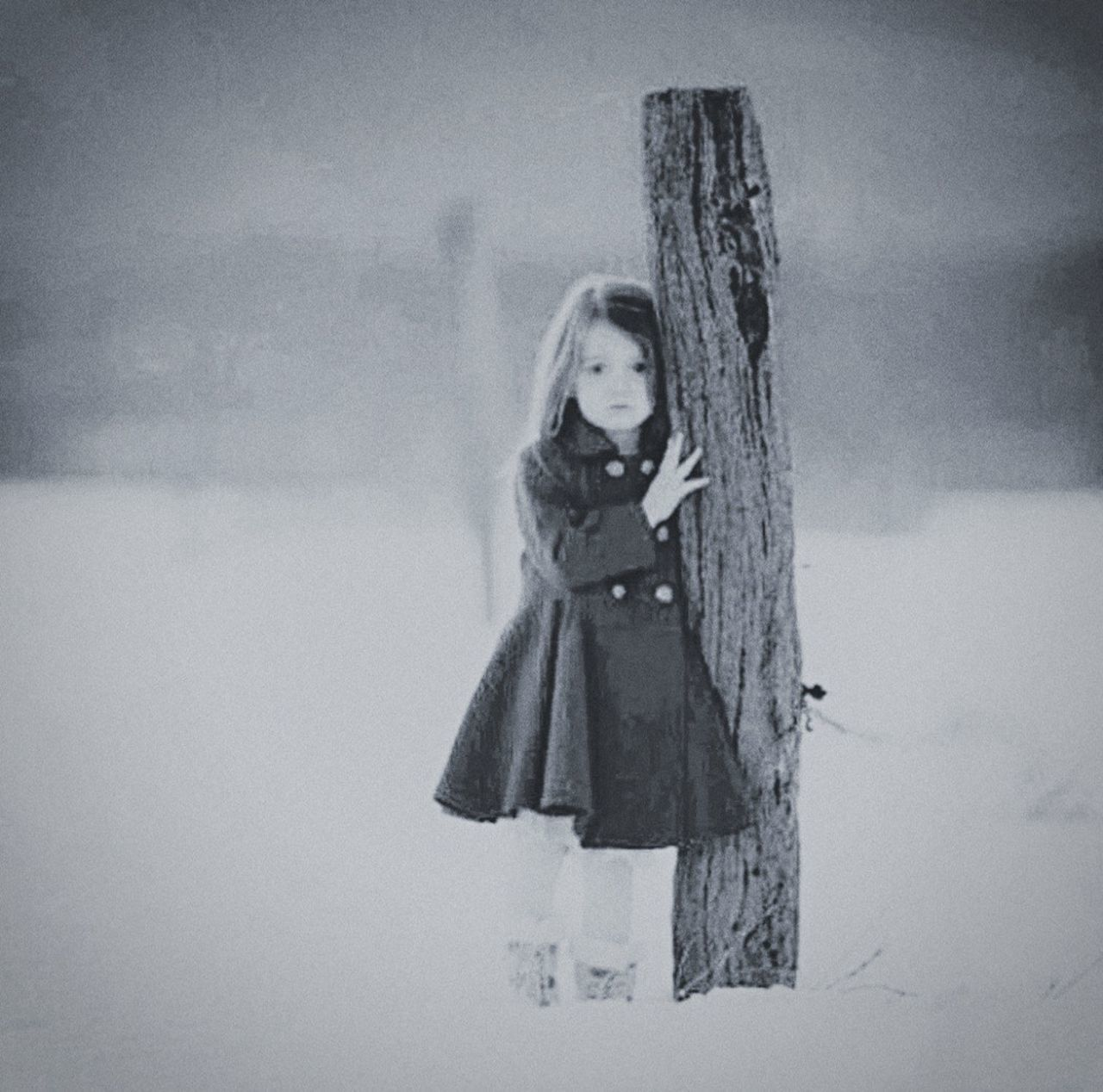 winter, snow, cold temperature, one person, childhood, outdoors, real people, full length, day, sky, people