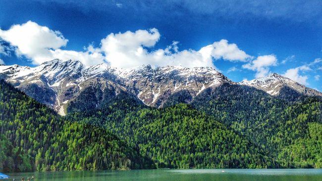 Ritsa Lake Nature Mountains Mountainporn Skyporn Calm