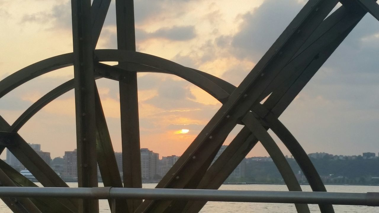 sky, sunset, cloud - sky, bridge - man made structure, built structure, outdoors, architecture, scenics, nature, no people, close-up, beauty in nature, day, city