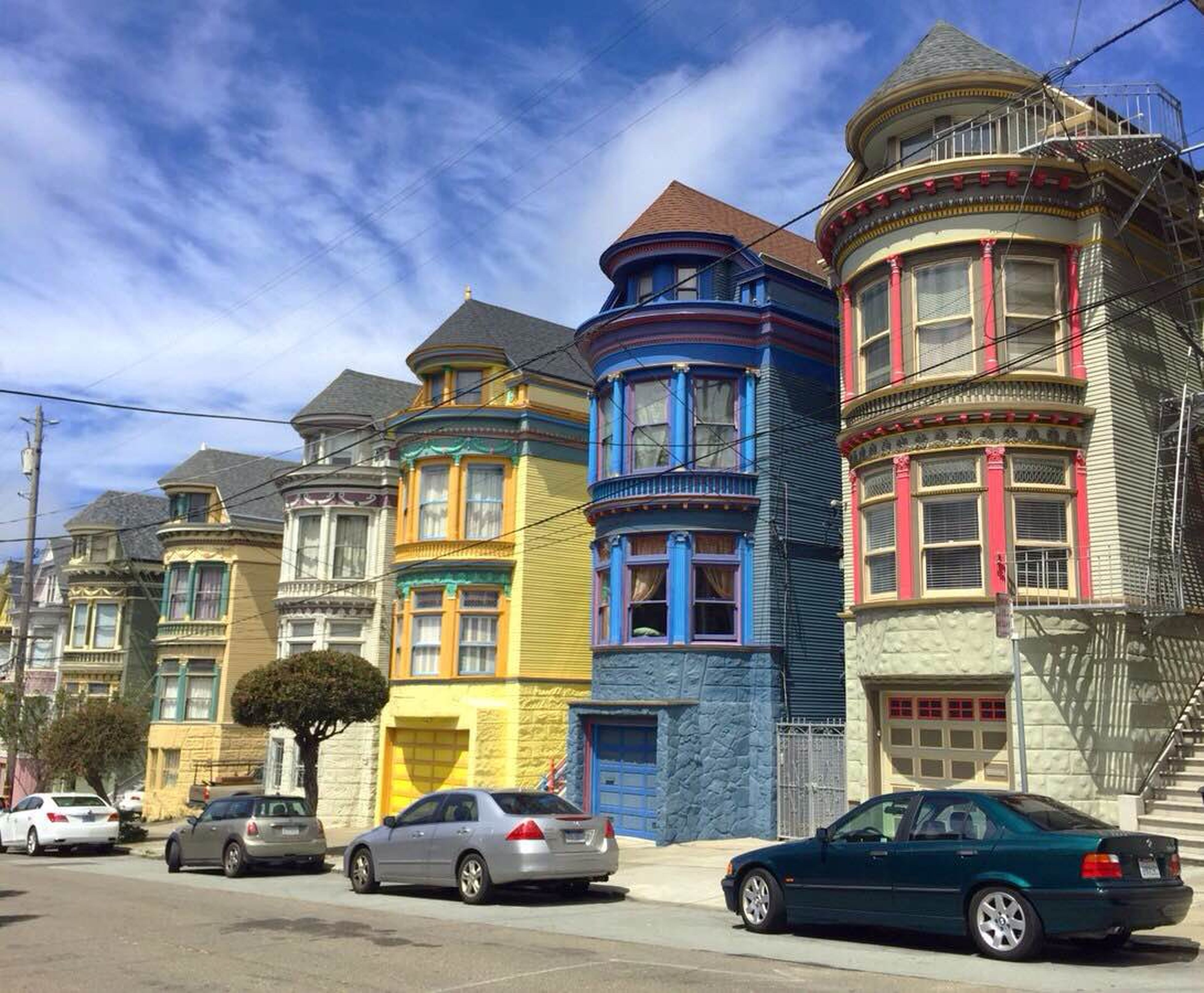 Victorian houses, the Painted ladies, in San Francisco