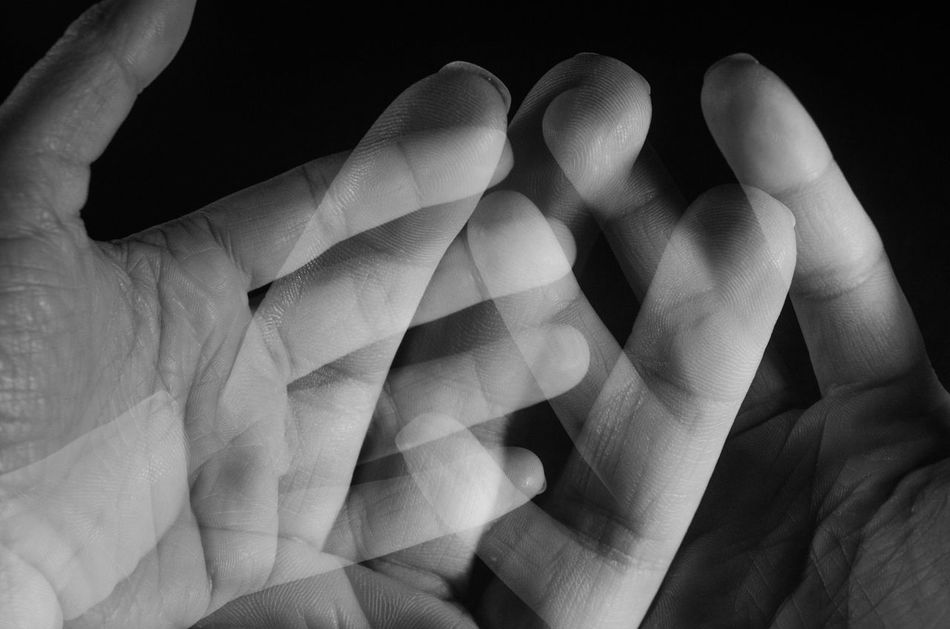 Human Hand Human Body Part Close-up Black Background Indoors  Hands Multiple Exposures Blackandwhite Black & White Black And White Photography Artistic Artistic Photo Artistic Expression