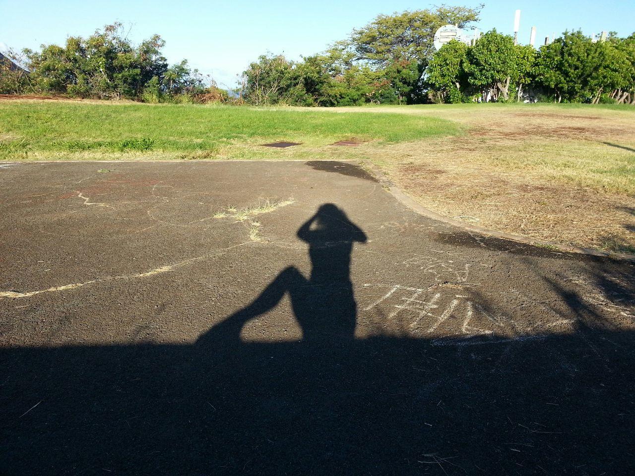 Goodmorning Me And My Shadow Walking Around Hello World