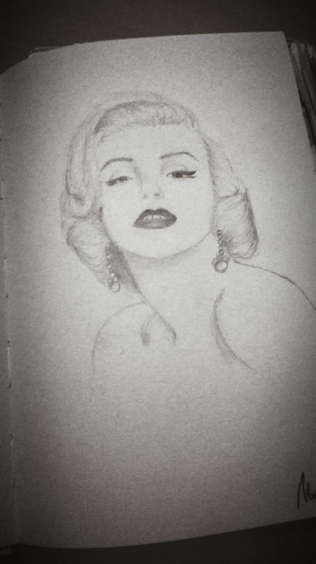 Drawing Art Marilyn Monroe My Draw ♥ Relaxing Keepcalmand____