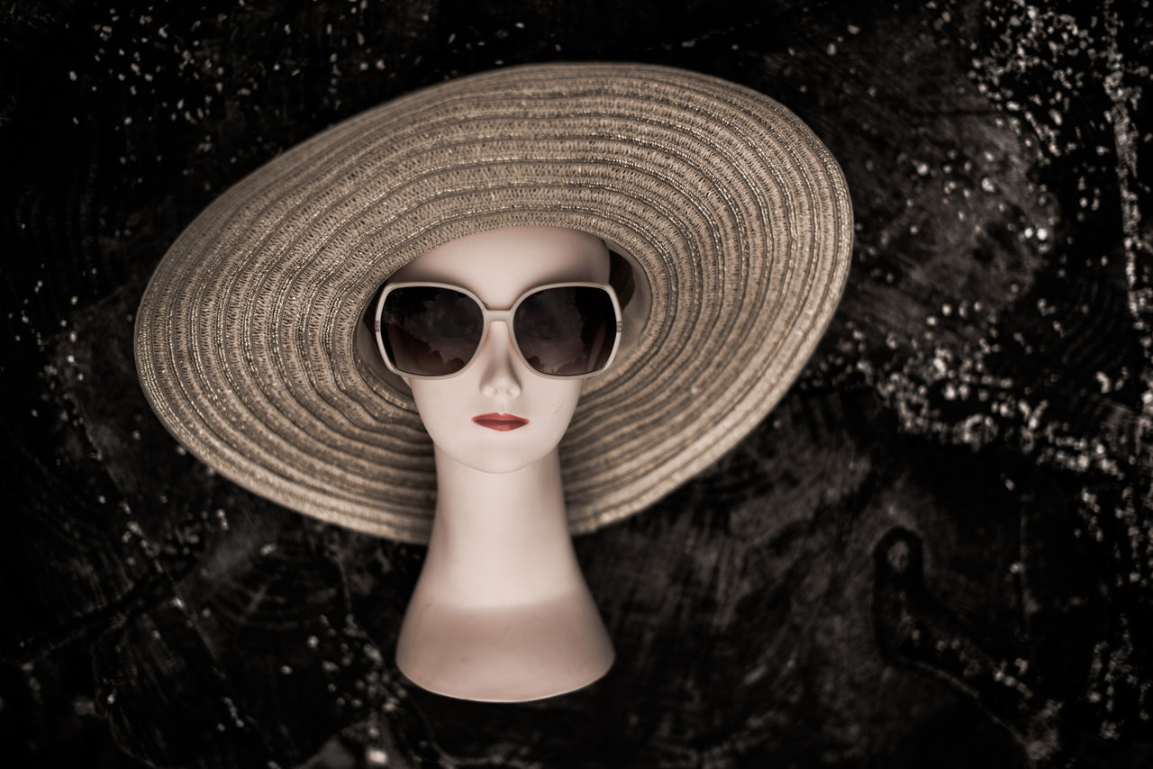Close-up Day Hat Human Representation Mannequin No People Outdoors Sunglasses