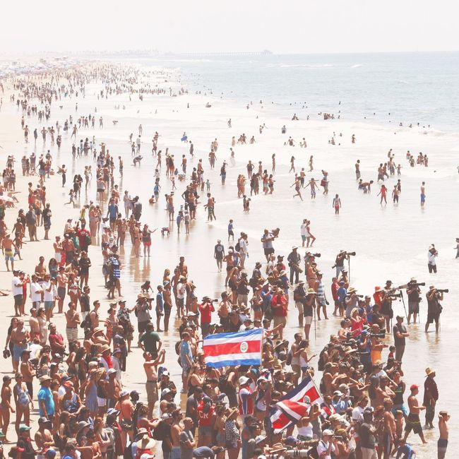 Large Group Of People Crowd Men Water Beach Real People Sea Day Outdoors Women Togetherness Nature Sky Adult People Adults Only Vansoffthewall Vansusopen
