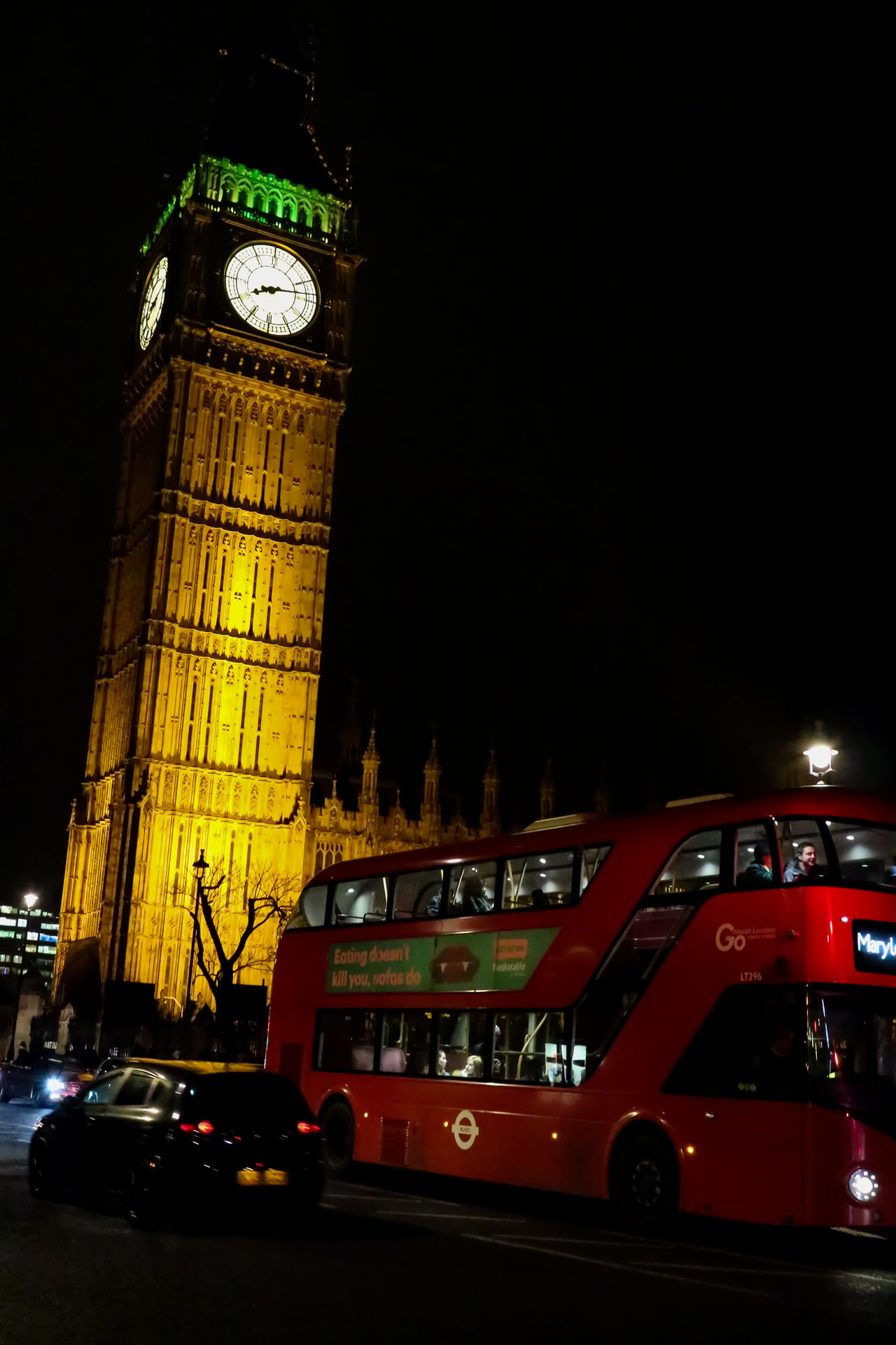 Architecture Architecture Big Ben Bus City City Life Clock Clock Face Clock Tower Drive Icon Illuminated Lighting Midnight Night No People Red Red Street Time Tour Transportation Travel Vehicle Westminster