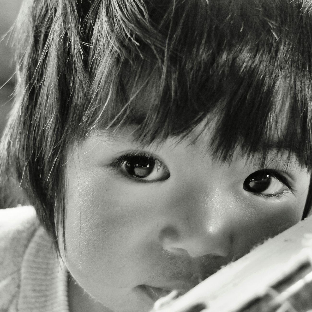 in the eyes of a child Sagada Igorot Taking Photos Innocent Eyes Enjoying Life Blackandwhite Photography FujiFilm X20 B&W Portrait B&w Photography