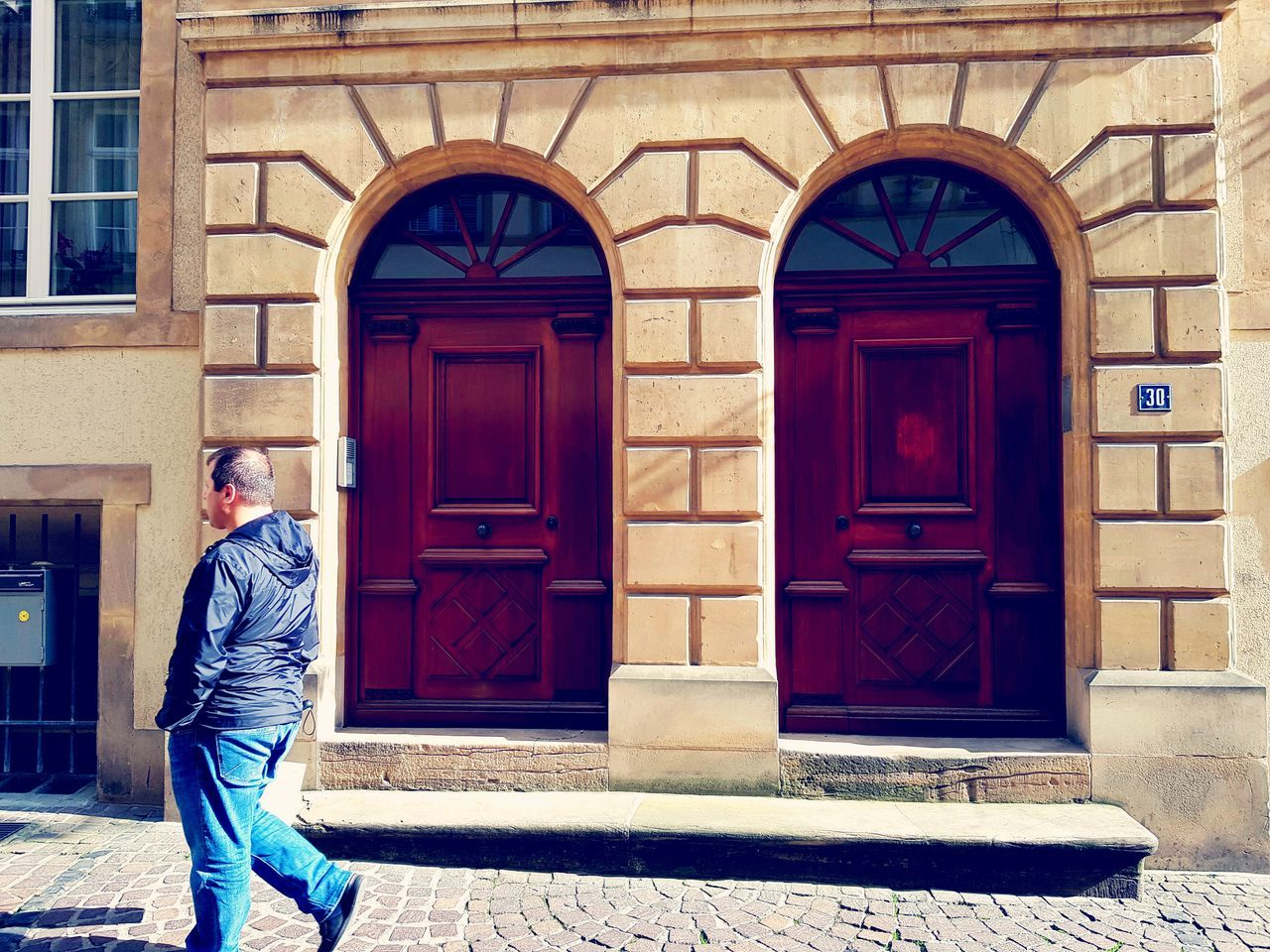 Door Entrance Doorway One Man Only One Person Building Exterior Architecture Outdoors Luxembourg Streetphotography Day Built Structure EyeEm EyeEmNewHere Eyeem Photography