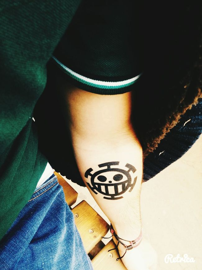 One Piece Eye Em Tattoos Today's Hot Look Popular Photos Snapchat Tattoo ❤ Crazy Boy  Tattoomodels EyeEm Best Shots Trafalgar Law  Kaizoku Summer Taking Photos Tattoo Amazing Selfie Follow Handsome Photography That's Me