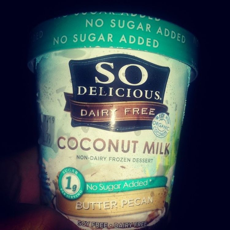 Sodeliciousdairyfree Butterpecan Nosugaradded Coconutmilk nondairyfrozendessert @nongmoproject verifiedorganic soyfree