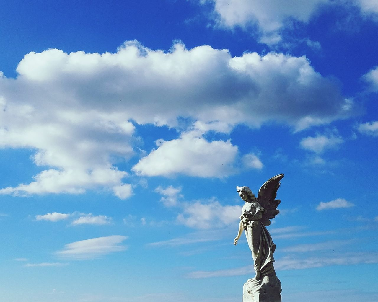 Angel Cemetery Statue Female Likeness Sculpture Human Representation Sky Cloud - Sky Art And Craft Day Blue Outdoors Crown No People Travel Destinations Representing