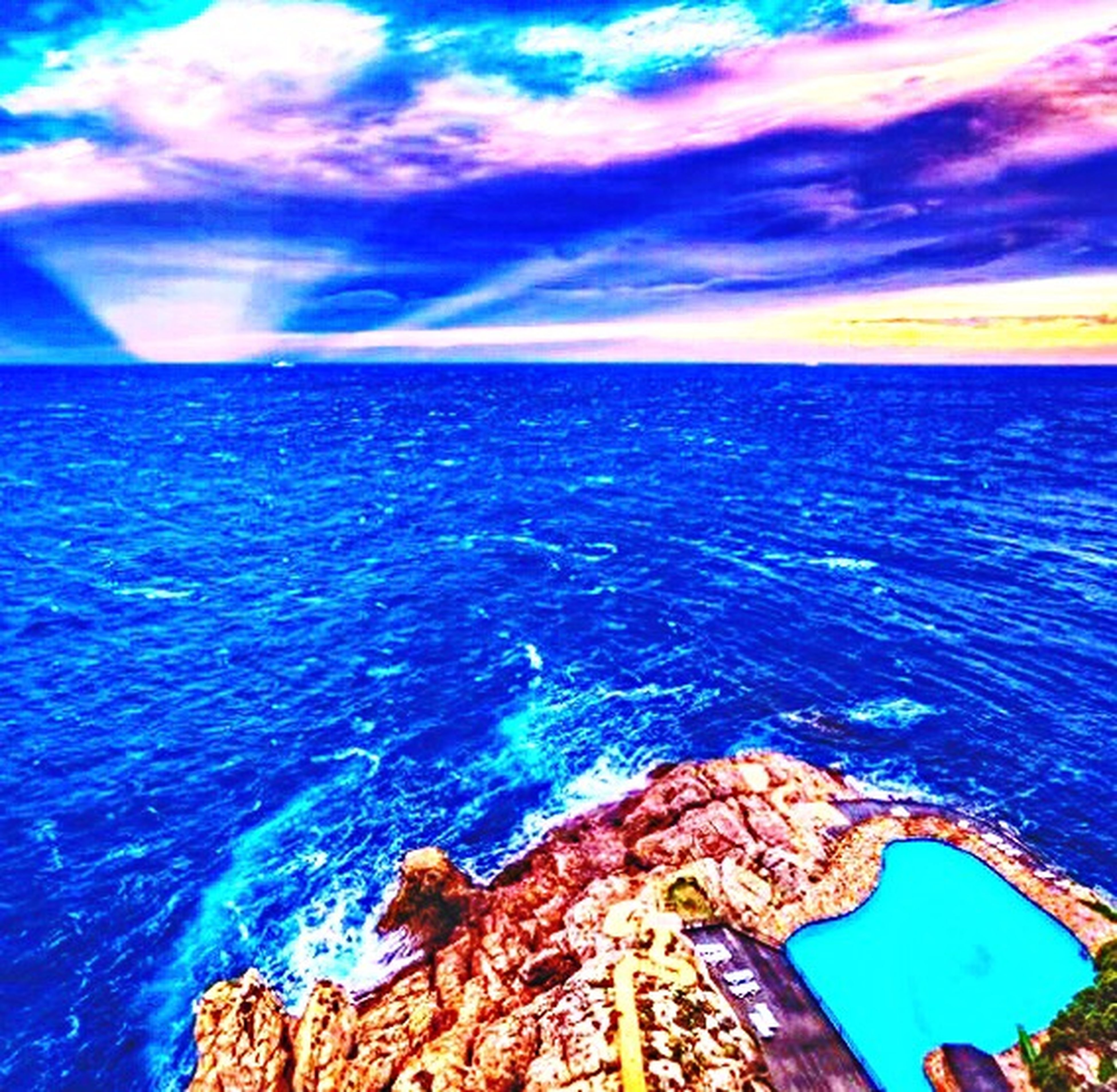 Clear Sky Sea Water Horizon Over Water Sky Scenics Dramatic Sky Cloud - Sky Beauty In Nature Tranquility Ocean