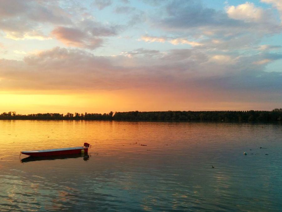 Sunset Blue Danube