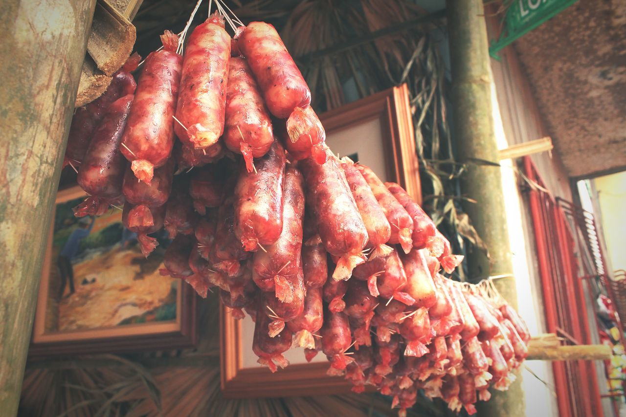 Drying the homemade sausages. Longganisanglucban Lucban Quezon Province Philippines Eyeem Philippines Street Streetphotography