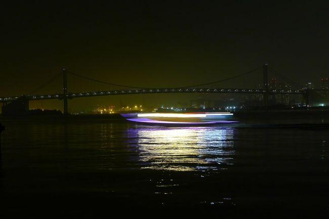 Boat Japan Motion Blur Lights Long Exposure Night Tokyo Tokyo Days Bridge Tokyo Bridge Travel