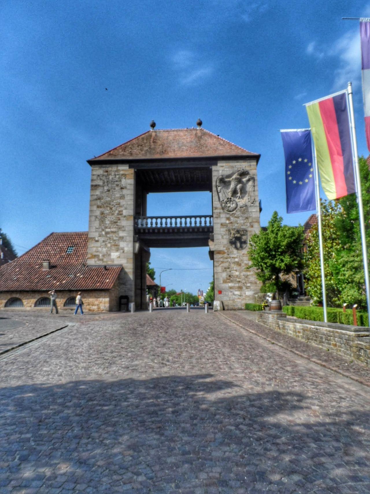 German Wine Gate GERMANY🇩🇪DEUTSCHERLAND@ France🇫🇷 Borderline Architecture Built Structure Building Exterior Sky Outdoors Day European Union