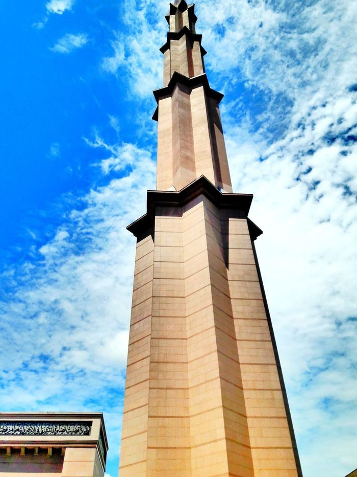 Low Angle View Cloud - Sky Architecture Day Building Exterior Masjid Putrajaya