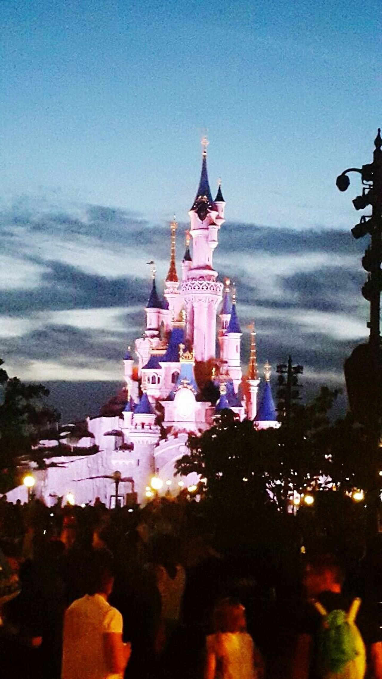 Magical summer sky Sky Beauty Architecture Disney Disneyland Resort Paris