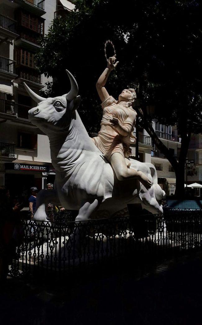 Monument To Europe Torremolinos SPAIN Statue Bull Spanish Spanish Arquitecture Europe Gods Zeus Europa Travel