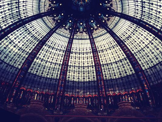 Shopping at Galeries Lafayette by Jess Ershova