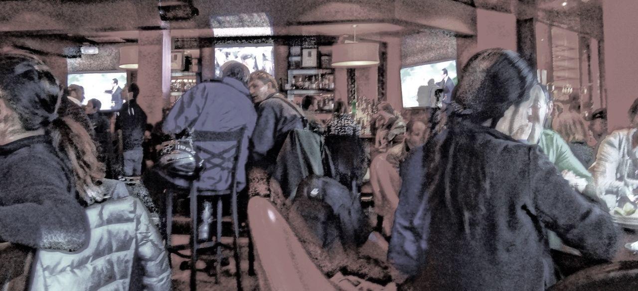 Adult Bar Bar Window Day Indoors  People Restaurant Skiing ❄ The Street Photographer - 2017 EyeEm Awards