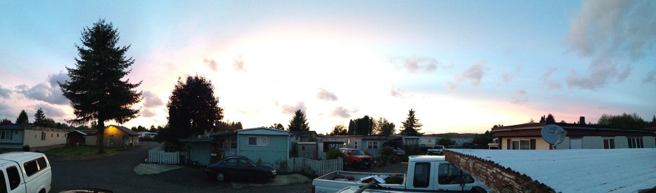 View From The Trailerpark Sunset Clouds And Sky Cloudporn Panorama IPhone IPhoneography Astoria, Oregon