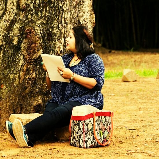 People And Places Person Tree Trunk Sitting Outdoors Nature Park Fine Art Photography Fine Art Fine Art Photograhy Portrait Of A Woman Portrait