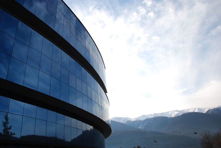 Architecture Armenia Blue Built Structure Cloud Cloud - Sky Cloudy Day Dilijan Modern Nature No People Outdoors Sky