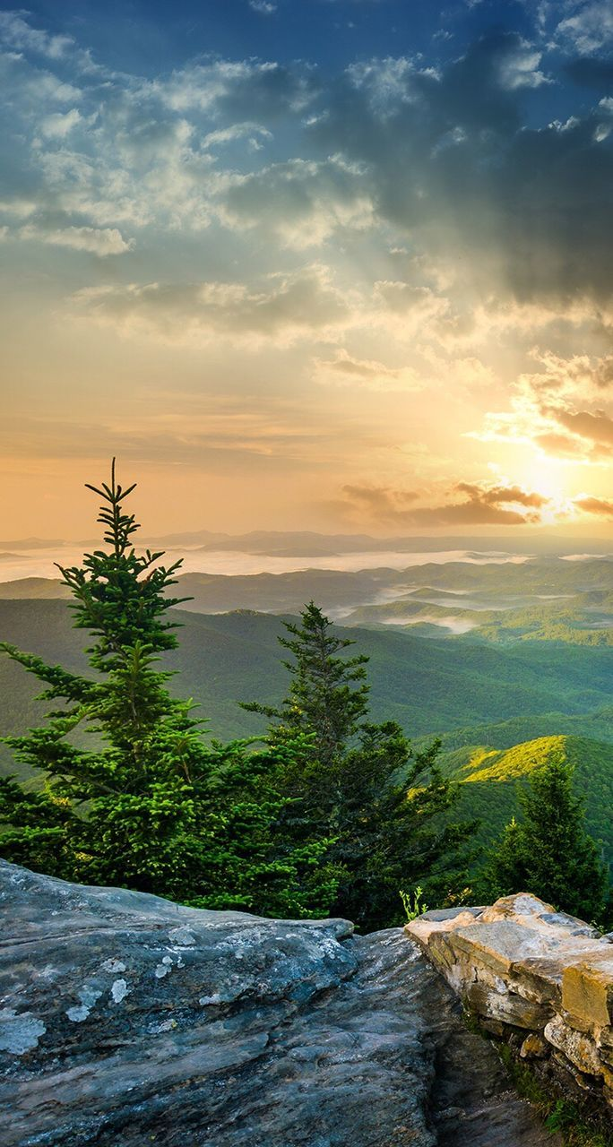 sunset, nature, sky, beauty in nature, no people, scenics, tranquil scene, tranquility, tree, landscape, mountain, outdoors