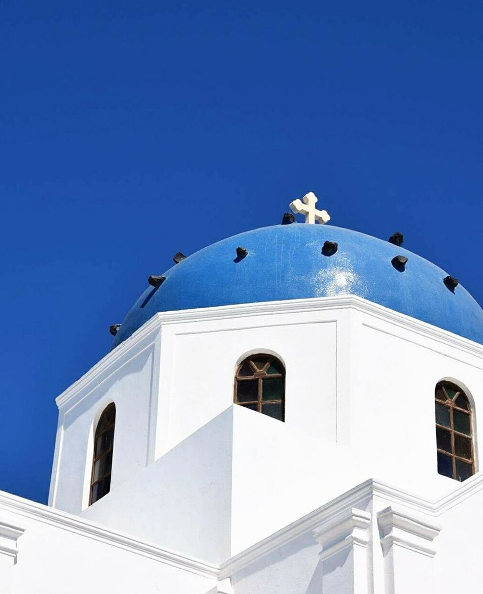 Santorini island.Greece White Color Religion Blue Clear Sky No People Day Clock Outdoors Architecture Hellas Santorini Eyeemphotography EyeEm Best Shots EyeEm Gallery Travel Destinations Picsoftheday EyeEmNewHere Photography 3XSPUnity Greece Santorini Island Travel Oia , Thira , Santorini , Greece Architecture