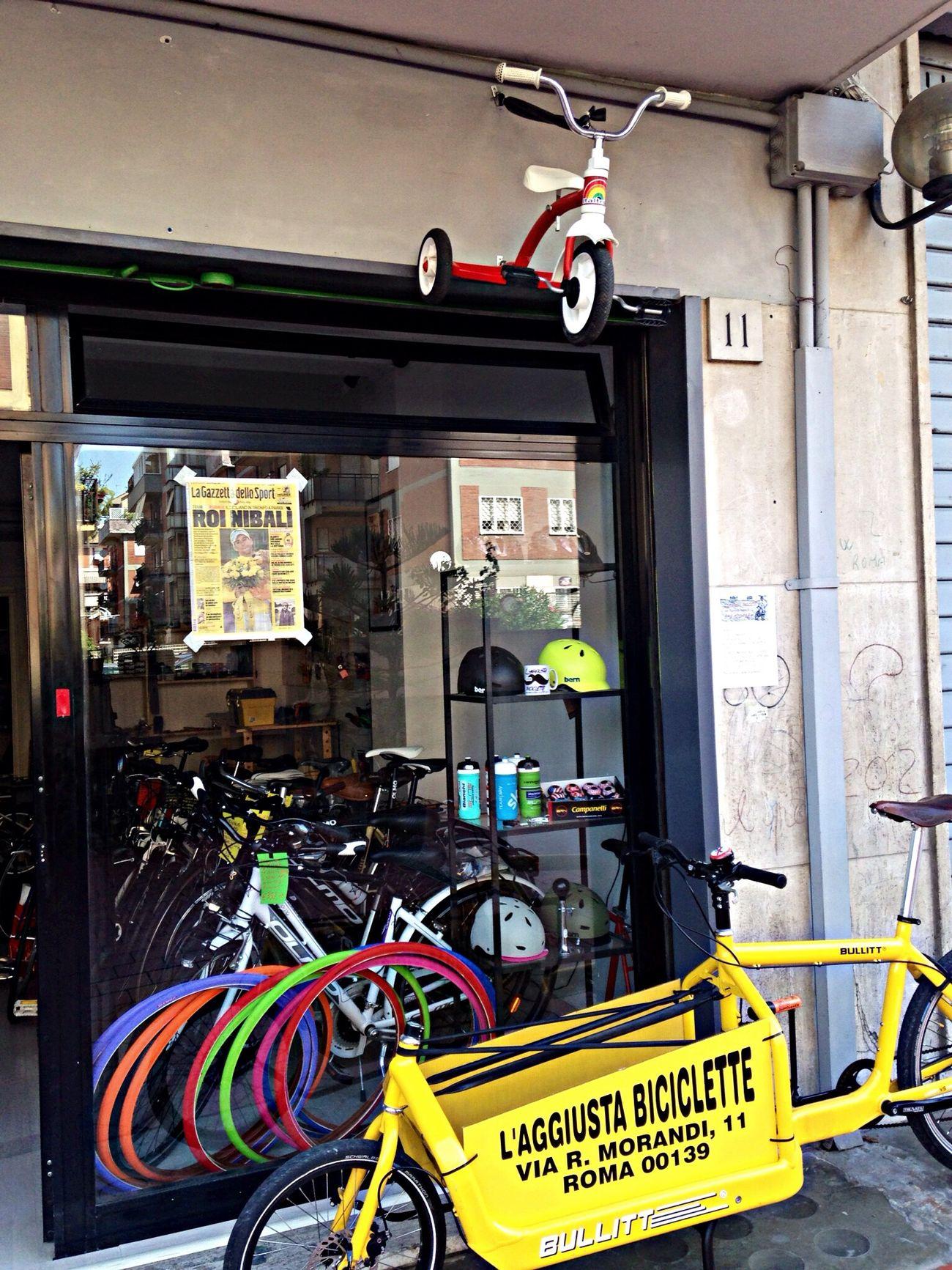 L'insegna L'insegna L'aggiusta Biciclette Triciclo Bici