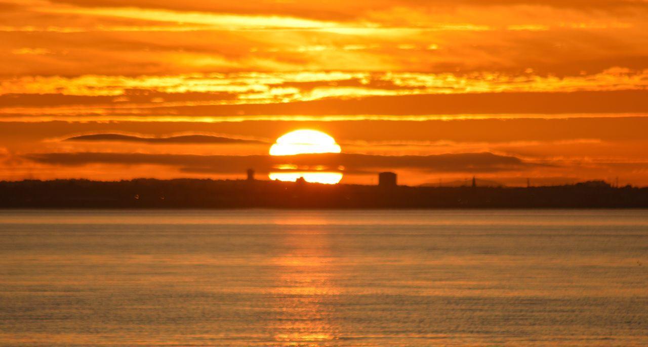 Coastal sunset Sunset Sun Scenics Water Tranquil Scene Waterfront Sea Reflection Sky Musselburgh