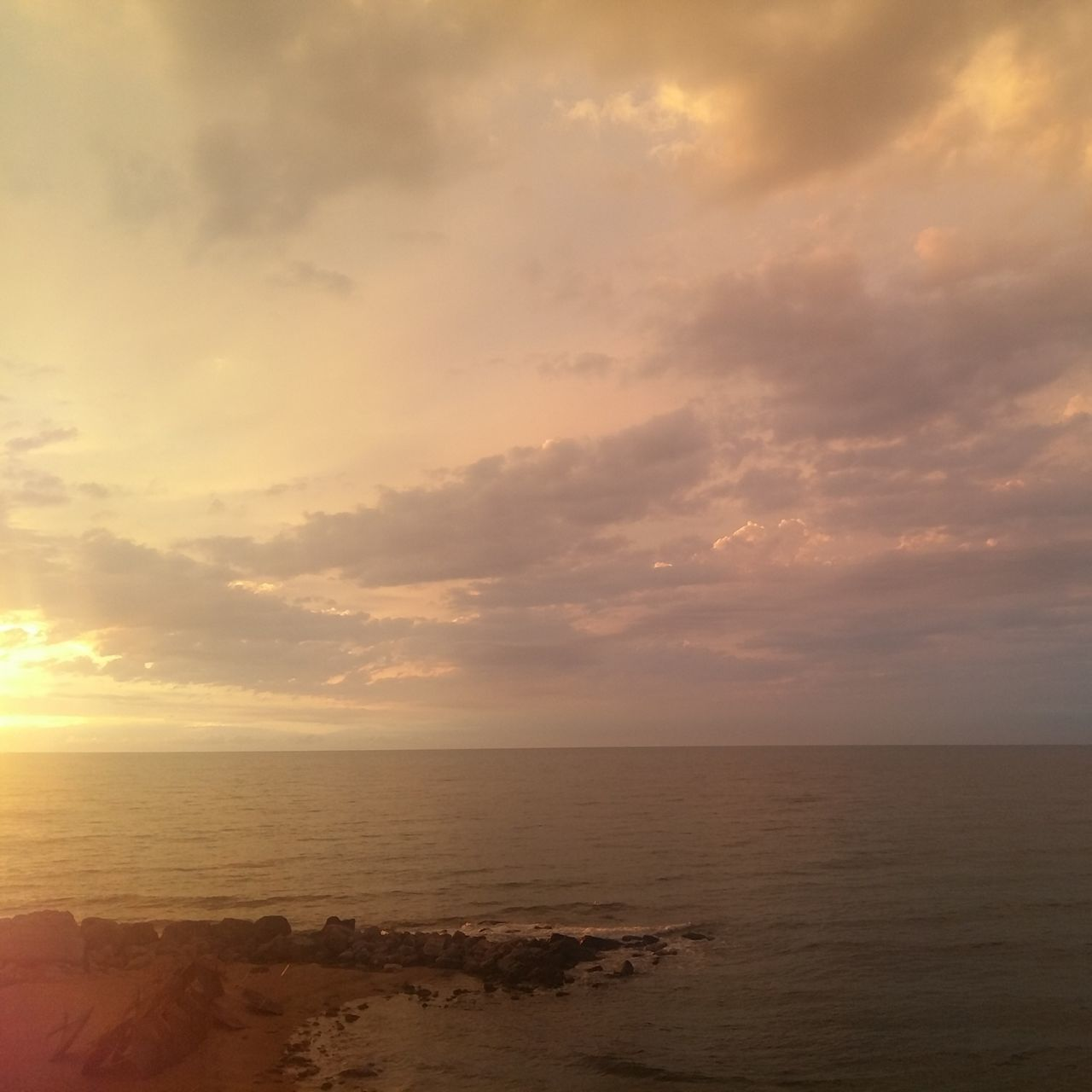 Sea Beach Cloud - Sky Tranquility Horizon Over Water Sun Dramatic Sky Reflection Landscape Sky Scenics Nature Water Vacations No People Beauty In Nature Outdoors Tranquil Scene Summer St Konstantin And Elena Varna,Bulgaria No Filter Sunrise Gold Colored Dramatic Sky