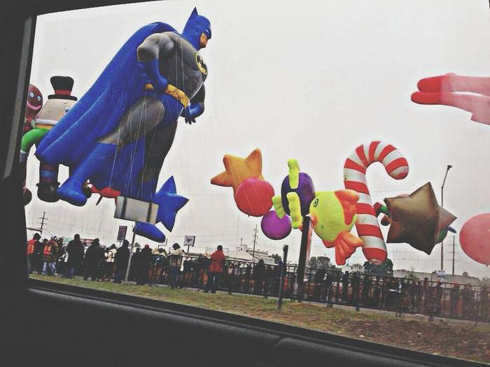 Walking Around balloons Enjoying The Sun Balloons Batman Beautiful Globe Parade
