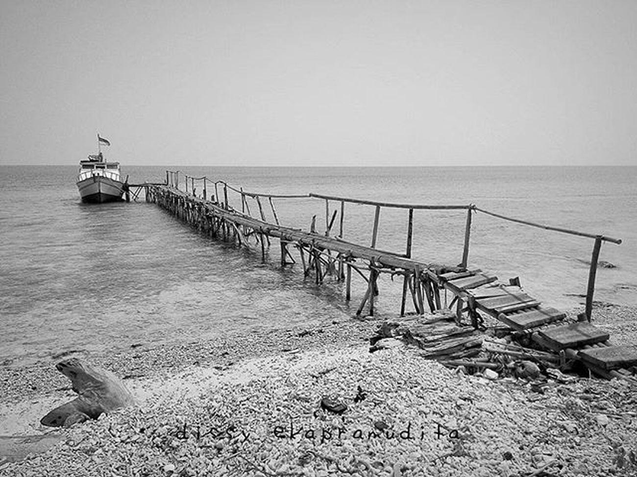 Fragile Jetty Dermaga Fragile Beach PulauTunda INDONESIA 1000kata Nationalgeographic Asiangeographic Pewartafotoindonesia Instalike Instagram Instagood Instadaily Instamood Popularphoto Blackandwhite Asuszenphone5