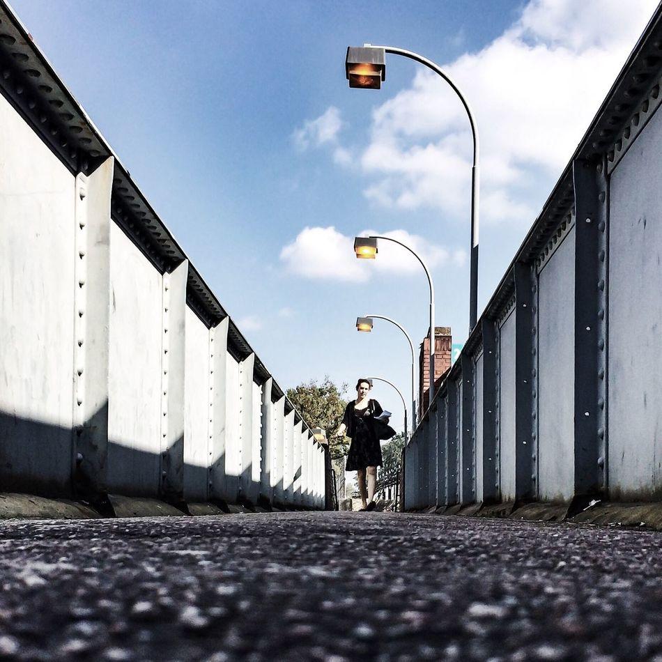 On the footbridge. Taking Photos EyeEm Best Shots IPhoneography VSCO
