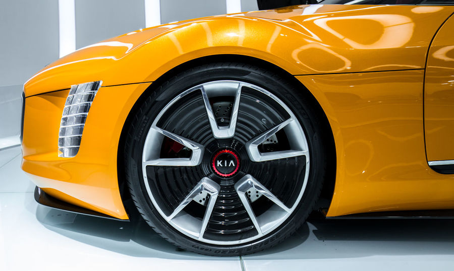 Car Close Up Close-up Concept Car Detail Detroit Auto Show 2014 Full Frame Kia Land Vehicle Side View Tire Wheel Mein Automoment