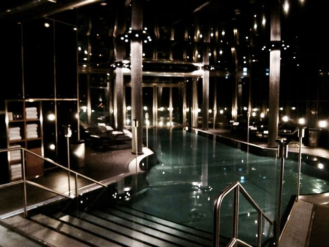 Chilling Fresh Tones Home Illuminated Indoors  Jacuzzi  Lifestyles Luxury Night No People Pool Spa Underground