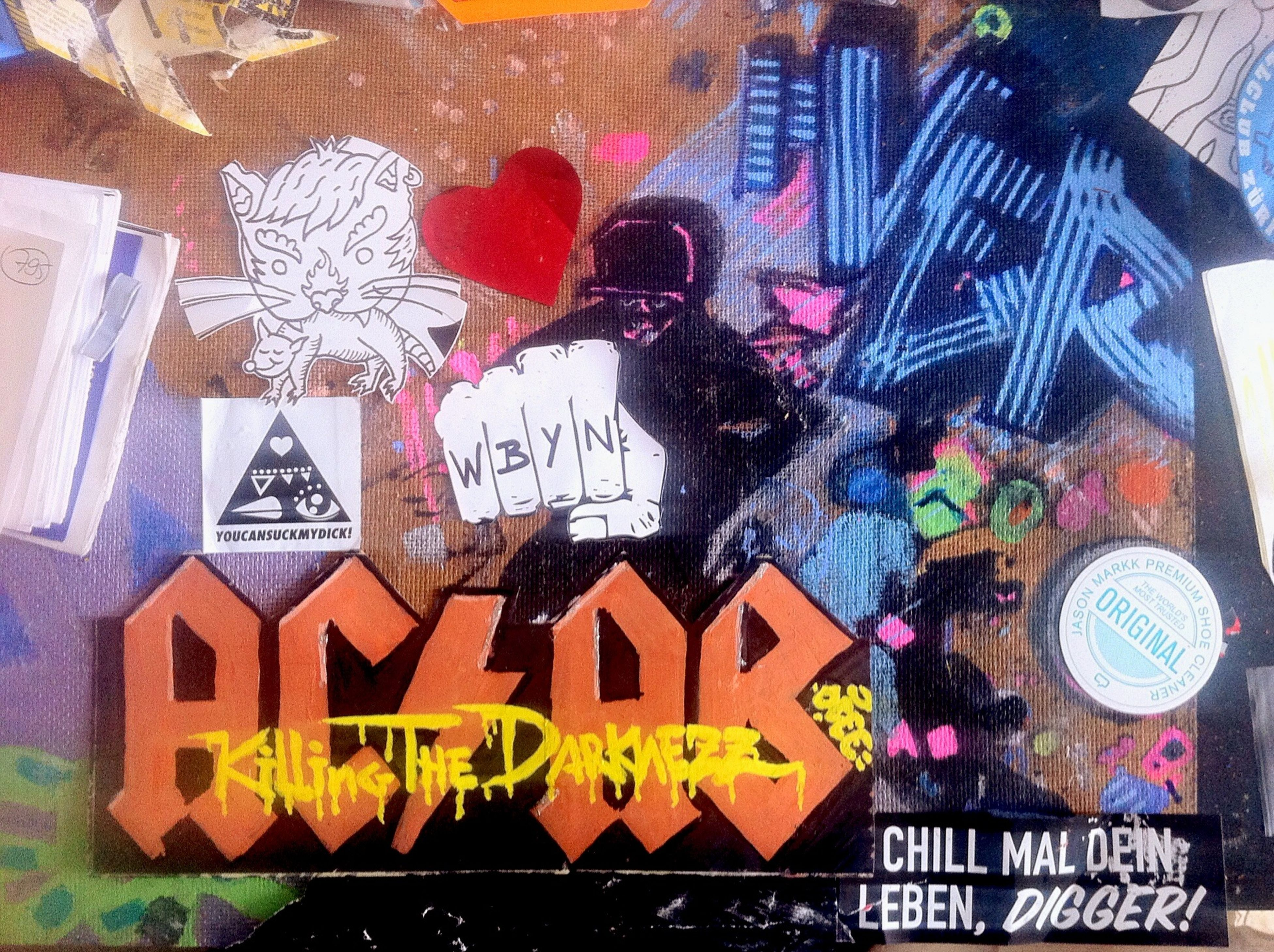 Create some Handmade Stickerart / Sticker Art !! Graffiti > ACAB // Killing The Darknezz < | > Ver < | Creativity || Look on my Desk