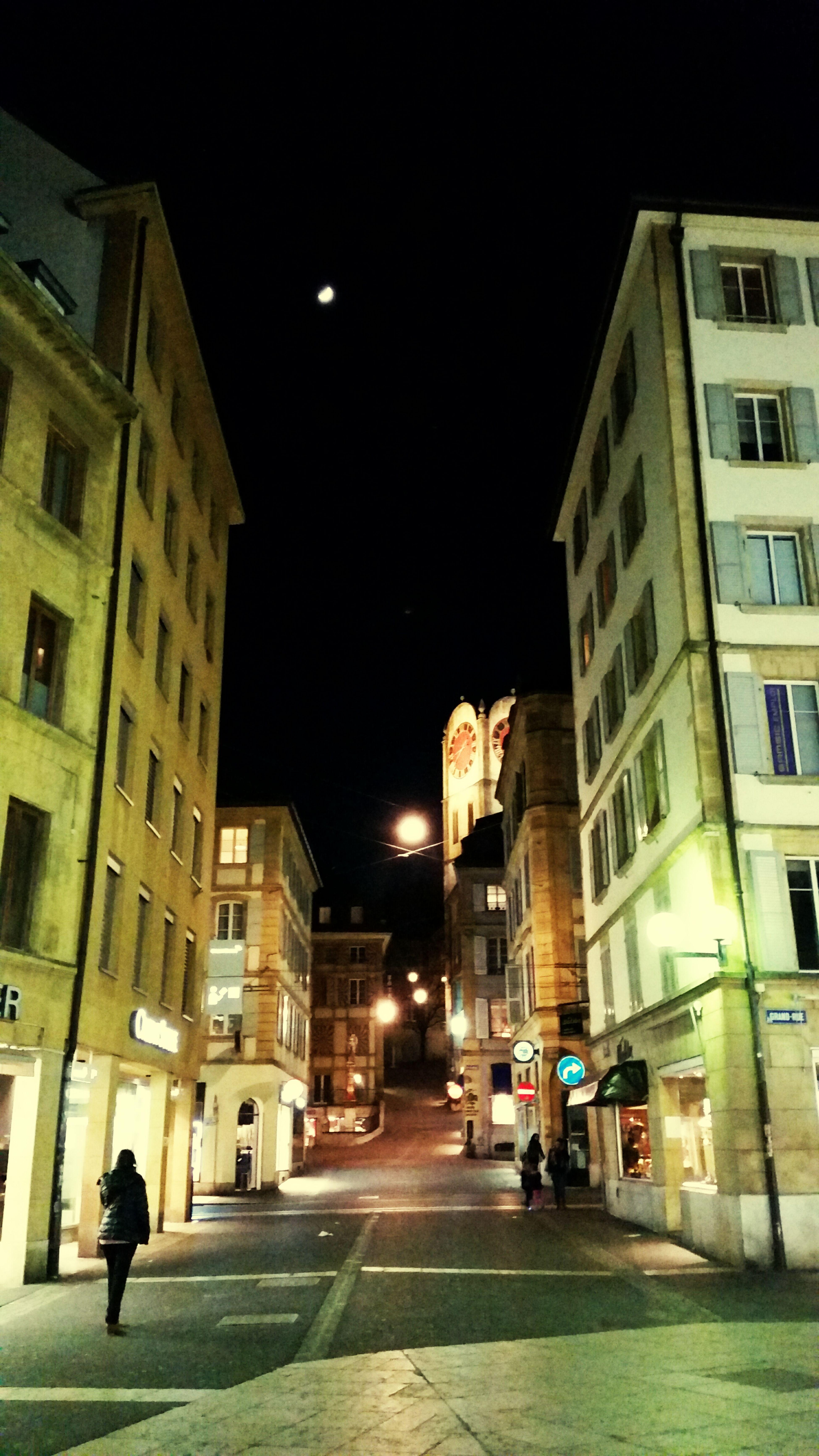 Lune Streetphotography Streetofneuchatel Night