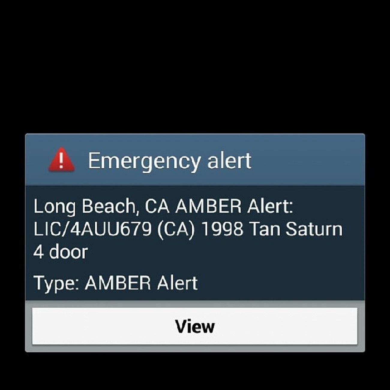 AmberAlert LongBeachCa Notification