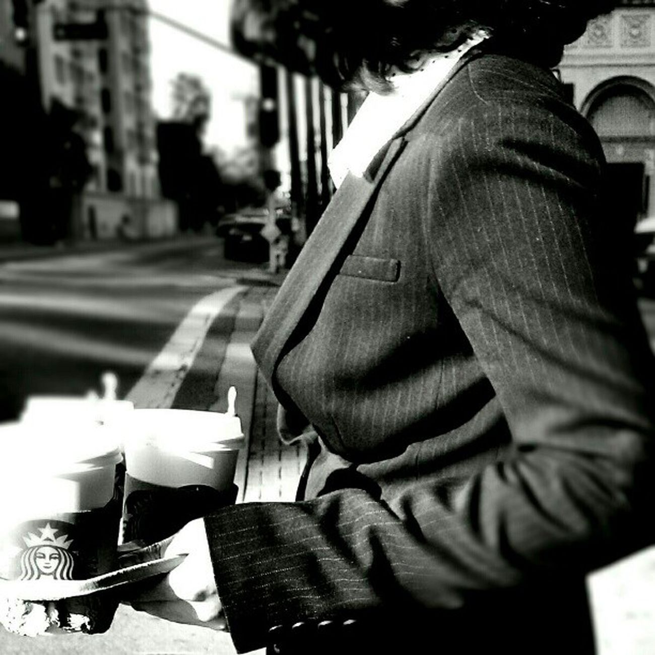 Getting her caffeine fix Streetphotography Streetphoto_bw LiveanddirectfromLosAngeles Black&white Monochrome Fortheloveofblackandwhite Bnw Jj  Blackandwhite Losangeles Coffee Up Close Street Photography