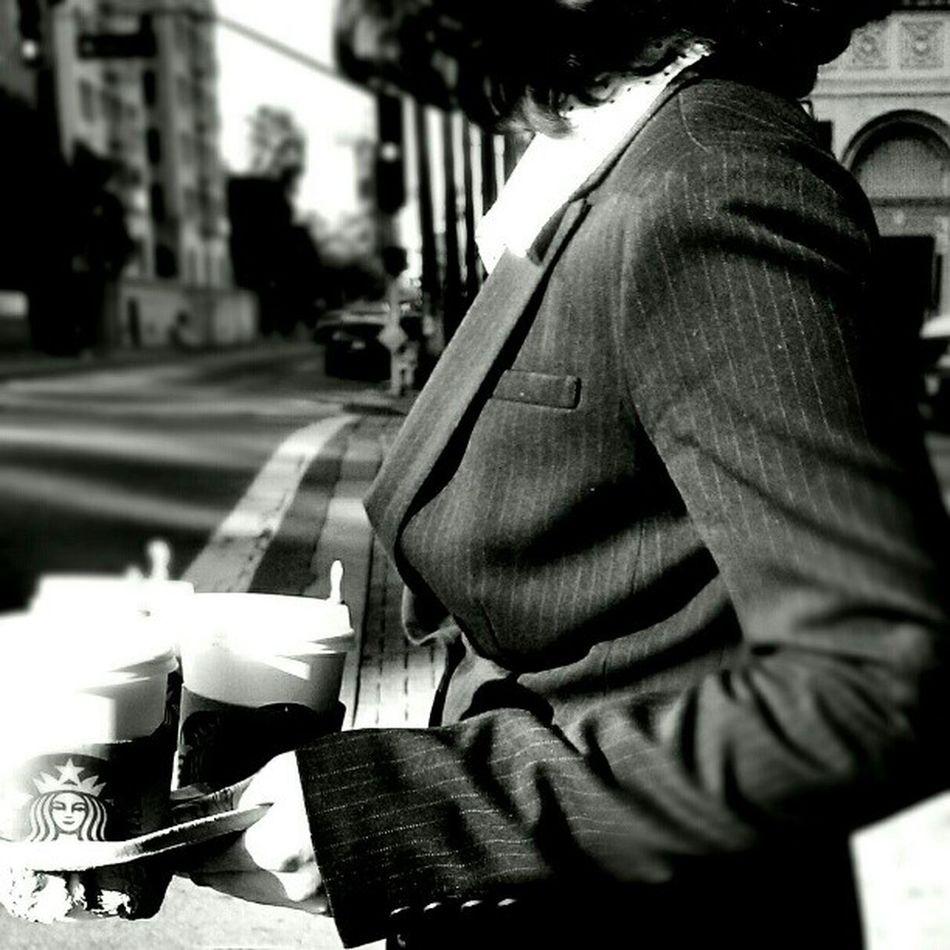 Getting her caffeine fix Streetphotography Streetphoto_bw LiveanddirectfromLosAngeles Black&white Monochrome Fortheloveofblackandwhite Bnw Jj  Blackandwhite Losangeles Coffee Up Close Street Photography