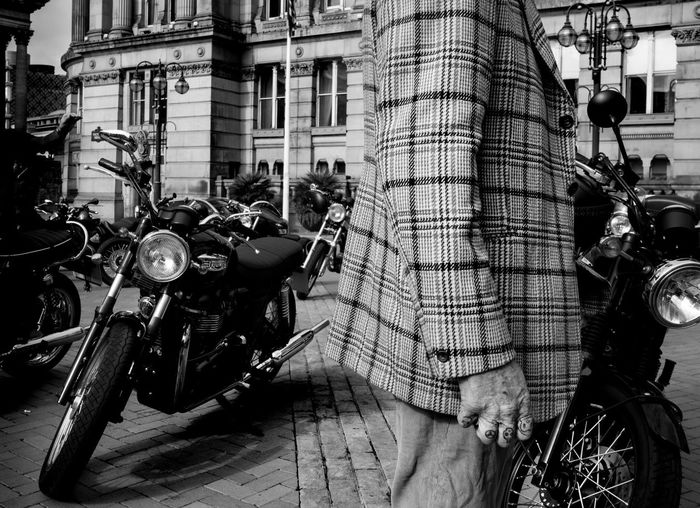Architecture Building Exterior Built Structure Outdoors Birmingham Streetphotography Blackandwhite Triumphmotorcycles Tweed