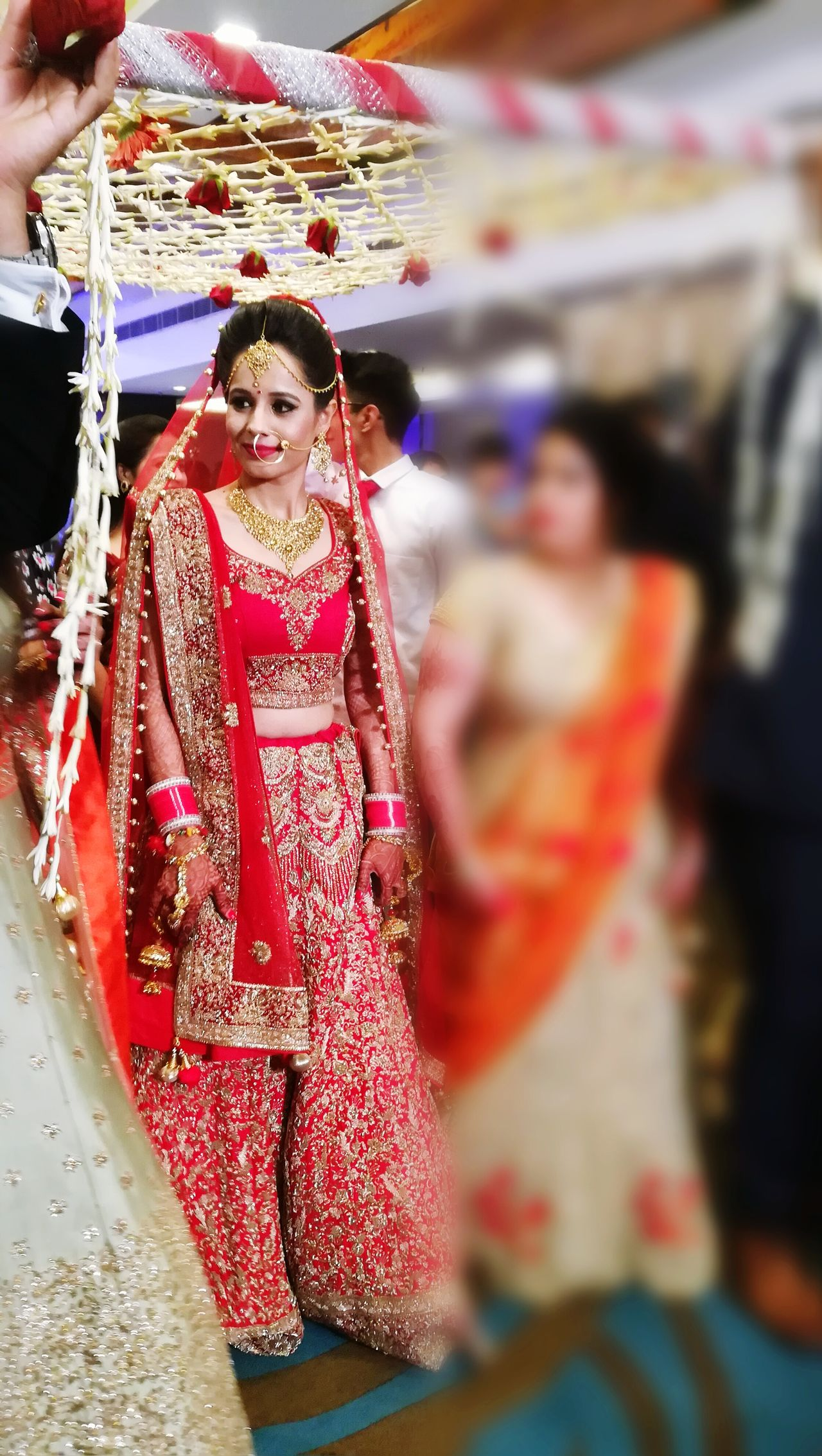 Arts Culture And Entertainment Celebration Fashion Ceremony Bride Multi Colored Beautiful People Beauty Adult Portrait Only Women Wedding Dress Beautiful Woman People Young Women Indoors  Adults Only Happiness BYOPaper! MARRIED ♡♡♡♡♡ EyeEm Best Shots Marriage Ceremony Young Adult Day Close-up