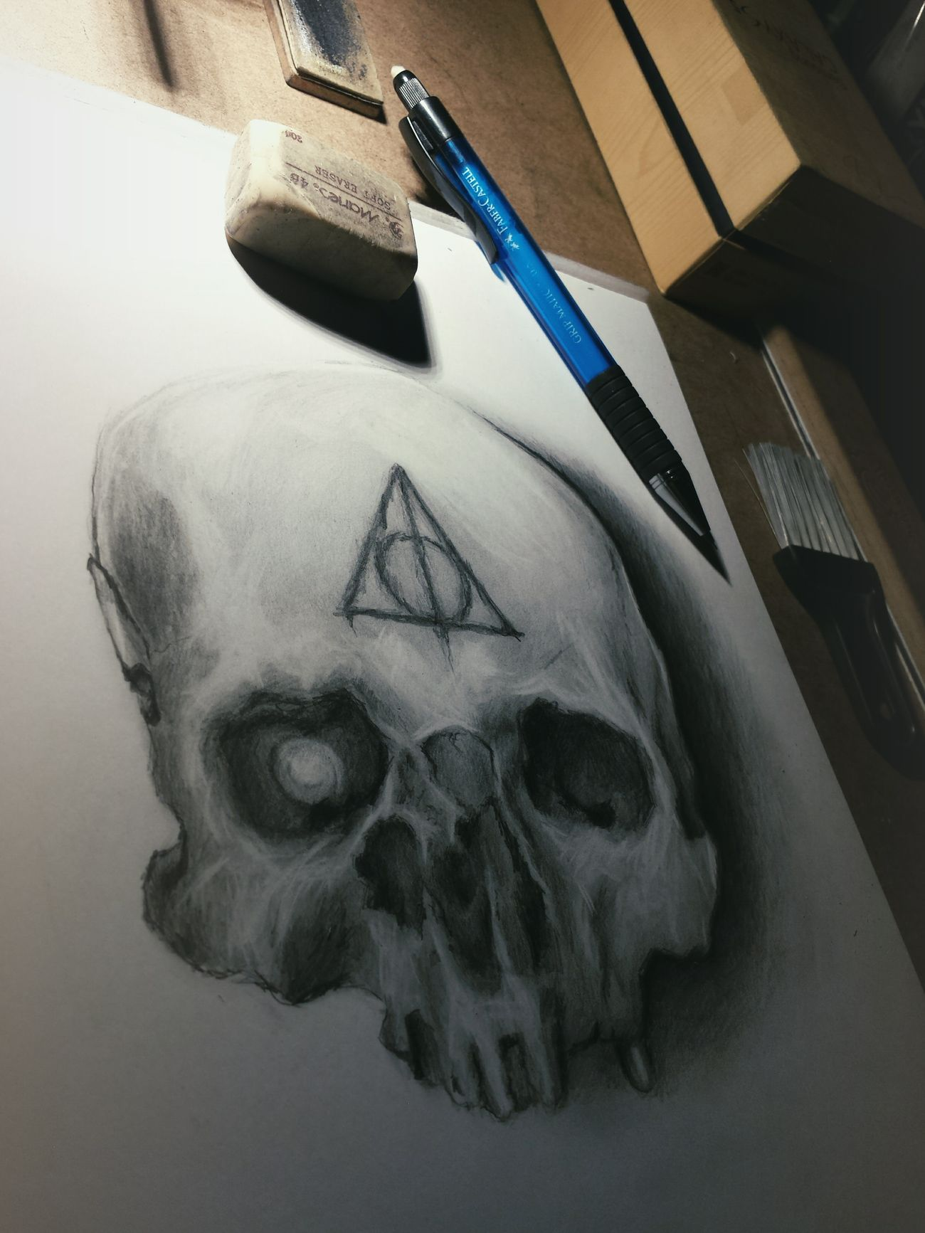 Skull sketch in progress. Art Picture Paper Check This Out Pencil Art, Drawing, Creativity Artsy Explore Drawing Creative ArtWork Design Sketches Sketchbook Sketching Draw Tattoos Sketch Horror Work My Artwork