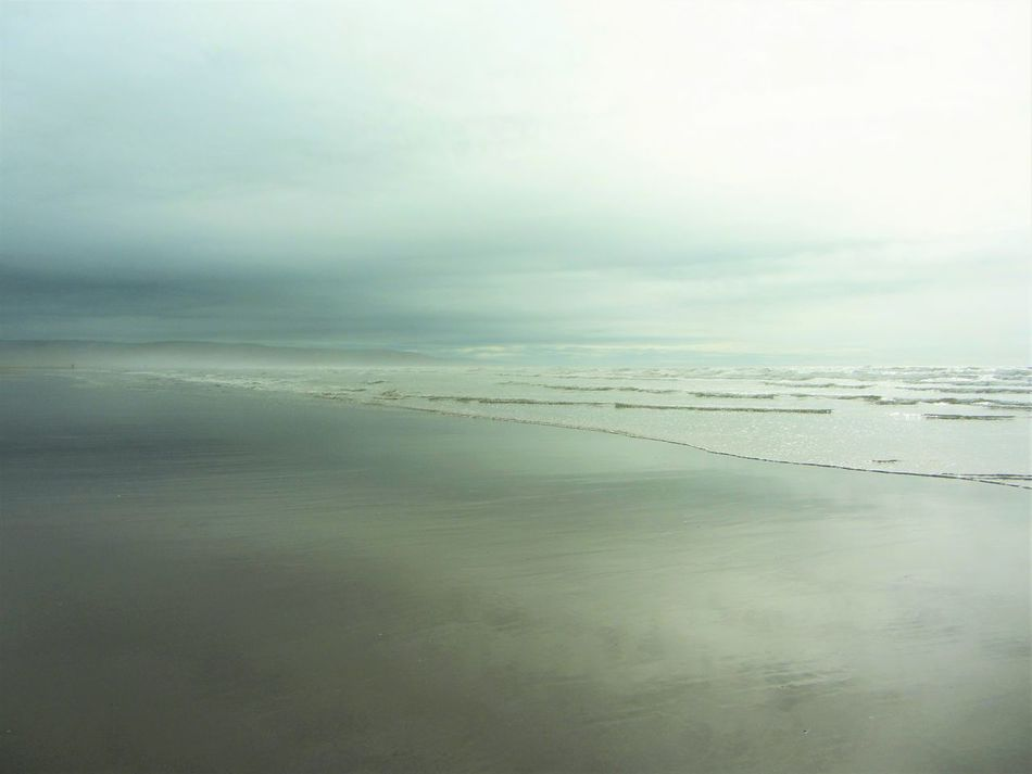 Borth Beach Low Clouds Silver Sea Lowtidephotography Eyemphotography No People Around Nostalgia Sea Horizon Over Water Tranquil Scene Scenics Water Tranquility Beauty In Nature Beach Idyllic Seascape Shore Sky Nature Calm Majestic Ocean Day Cloud - Sky