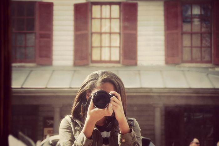 Self Portrait Taking Photos Old Town